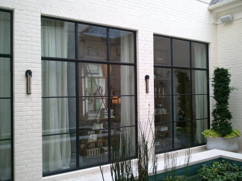 Great Use Of Metal Windows By Custom Iron Door Atlanta Exterior Home Pictures Atlanta